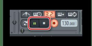 Остановить запись FL Studio
