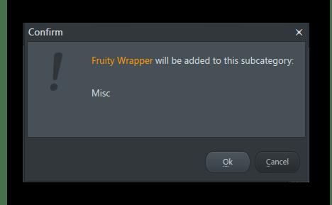 Подтверждение добавления плагина FL Studio