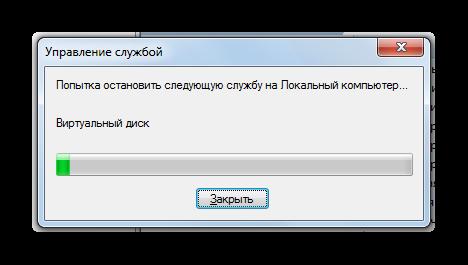 Процедура остановки службы Брандмауэр Windows в Диспетчере служб в Windows 7