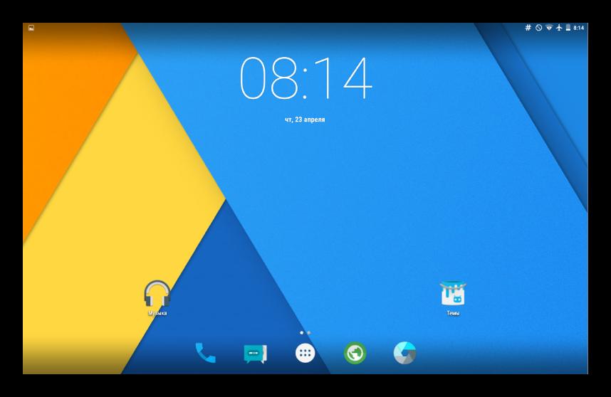Samsung Galaxy Tab 3 GT-P5200 CyanogenMOD 12 главный экран