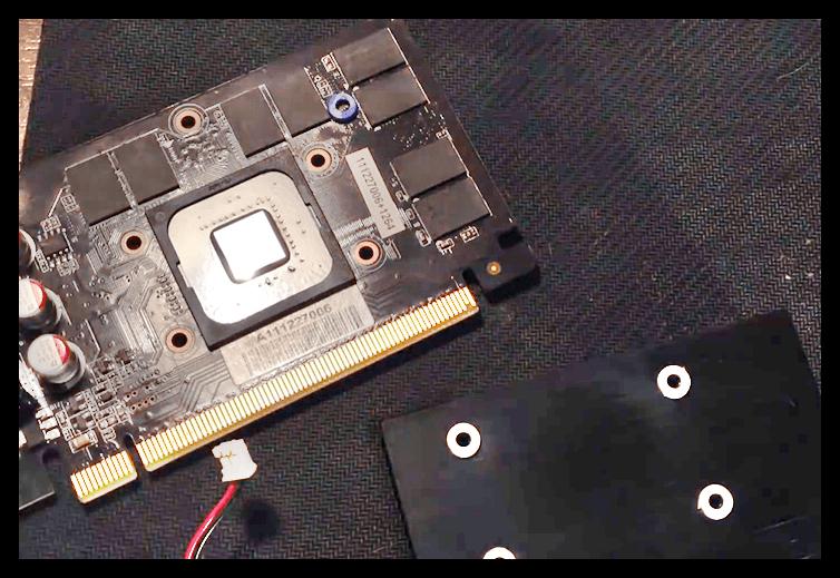 Удаление старой термопасты с системы охлаждения видеокарты