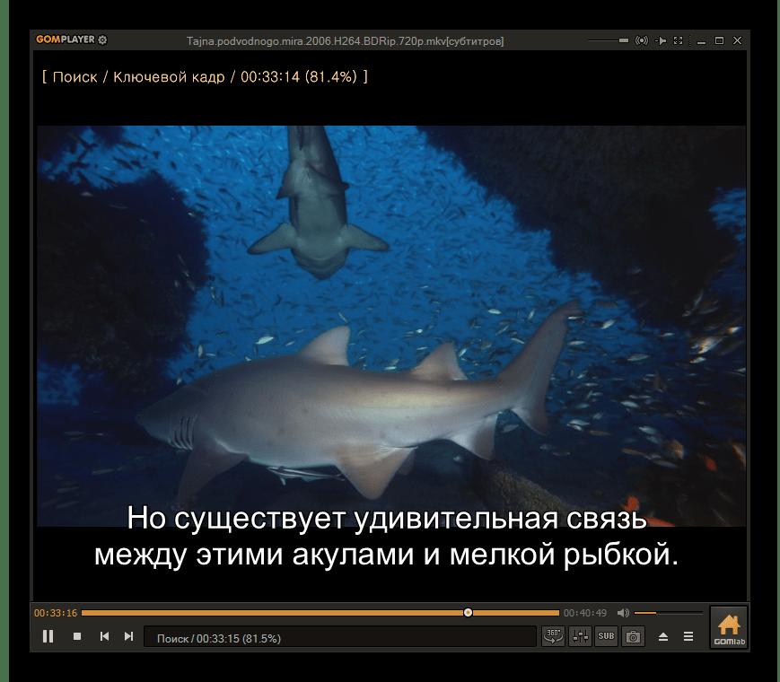 Видео MKV проигрывается в программе GOM Media Player