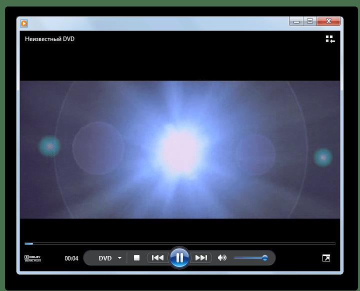 Видео открыто в программе Windows Media Player