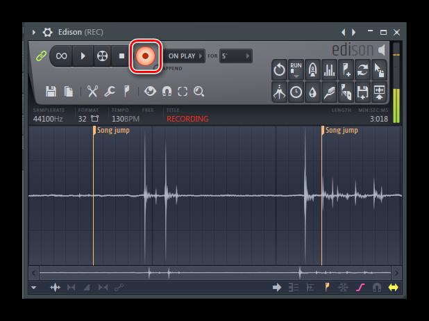 Включение записи через Эдисон FL Studio