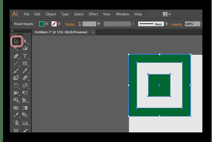 Выделение в Illustrator
