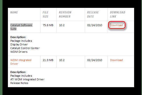AMD Скачивание драйвера