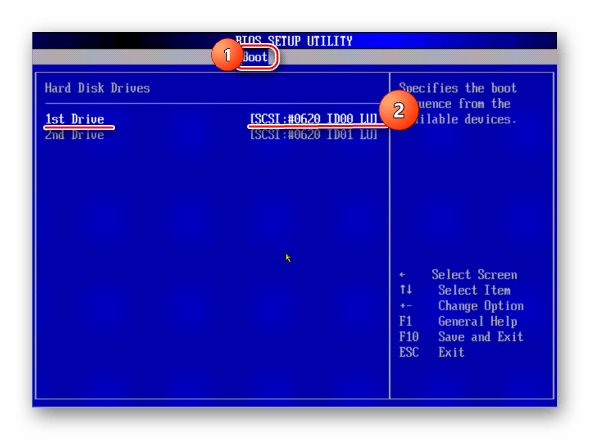 Boot AMI BIOS