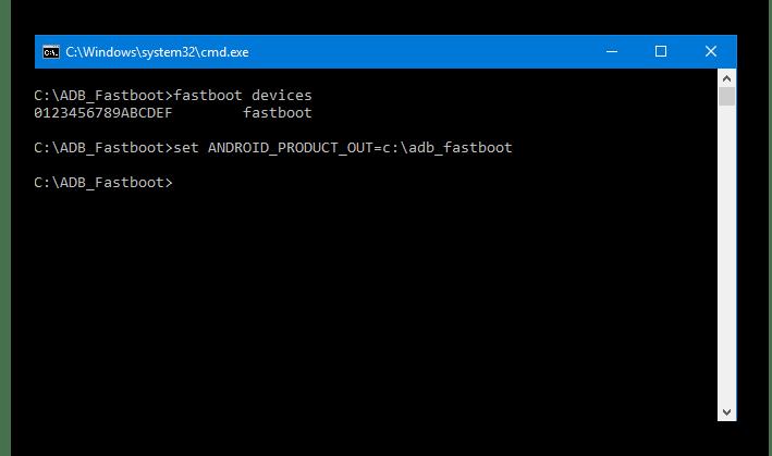 HTC D516 Fastboot указание каталога с образами для прошивки