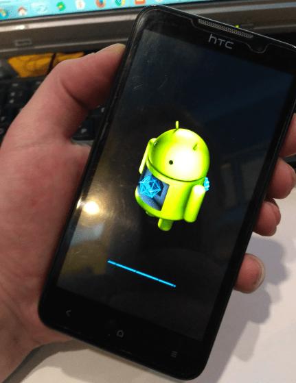 HTC Desire D516 прошивка с карты памяти начало установки
