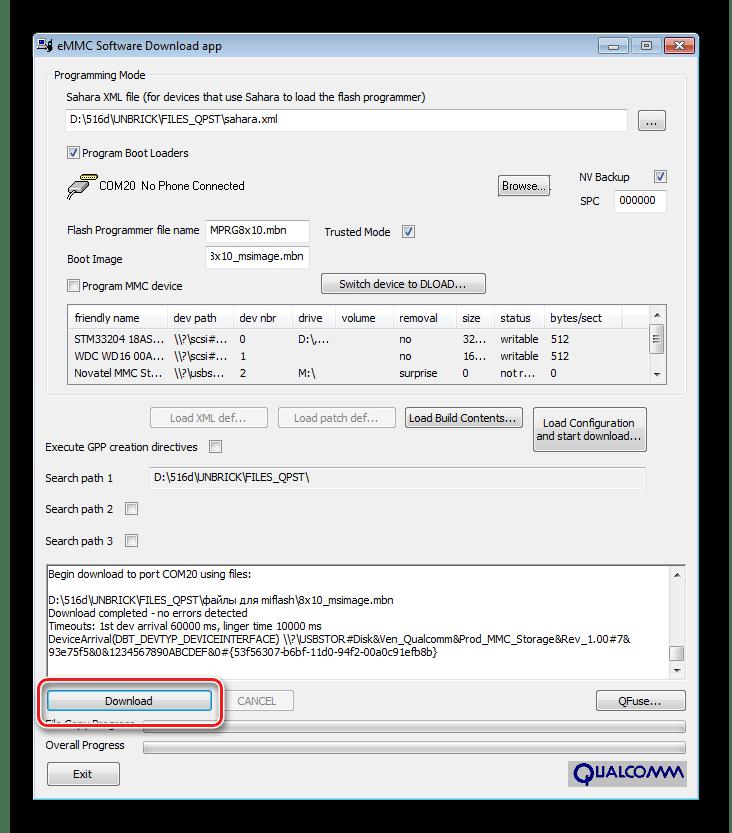 HTC Desire D516 восстановление переведен в 9006