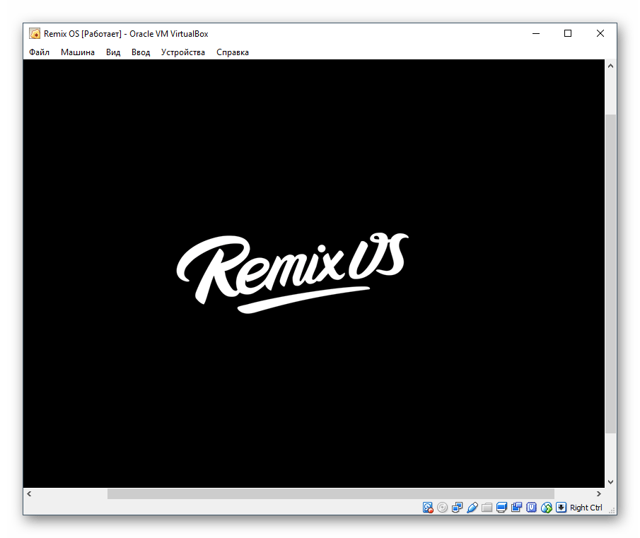 Логотип Remix OS в VirtualBox