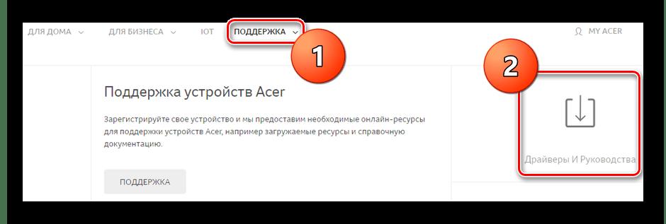 Официальный сайт Acer Драйверы и Руководства