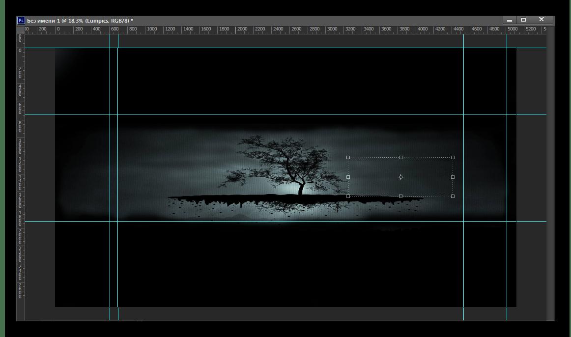 Подгон изображения по границам Photoshop