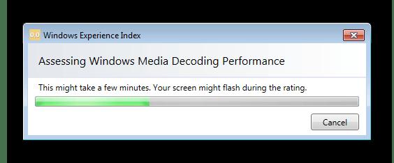 Процедура вычисления индекса производительности в окне программы Winaero WEI tool в Windows 7