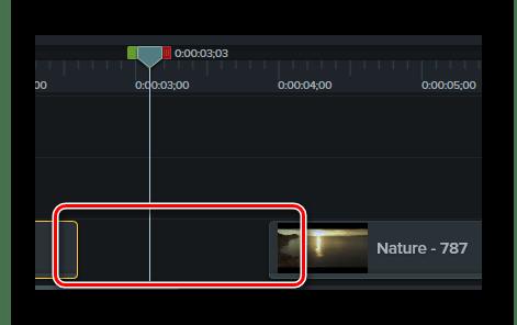Разрыв таймлайна при удалении участка файла