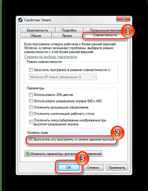 Свойства ярлыка совместимость выполнять запуск программы от имени администратора Windows 7