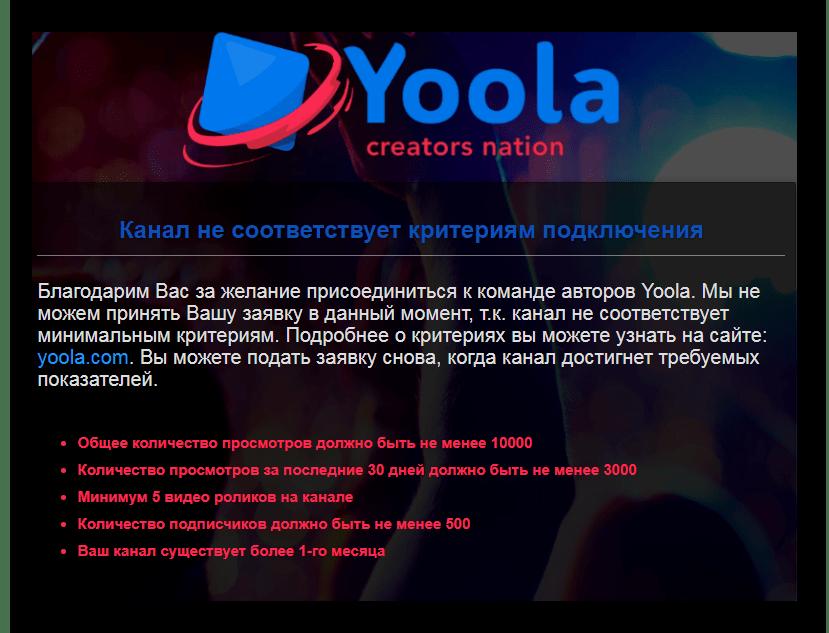 Уведомление Yoola
