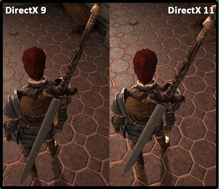Визуальные отличия картинки в играх в зависимости от редакции DirectX