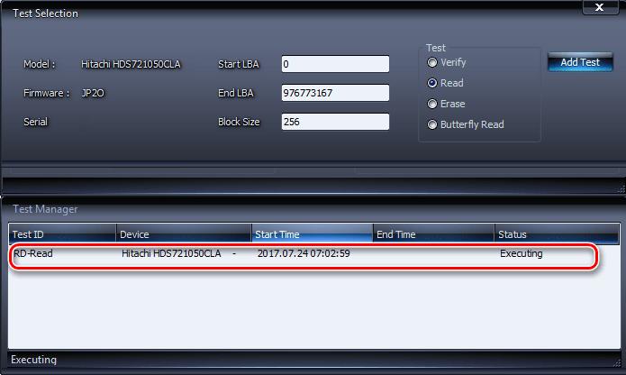 Запуск тестирования жесткого диска на ошибки в программе HDDScan