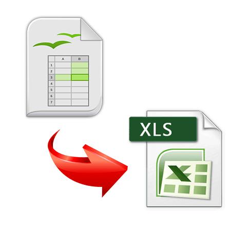 как конвертировать ods в xls