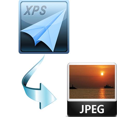 как конвертировать xps в jpg