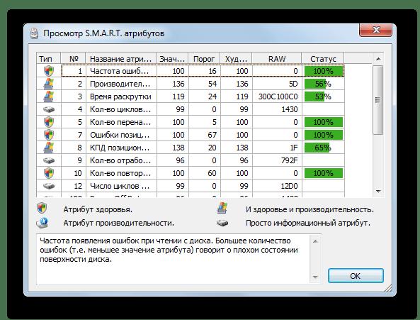 окно просмотра ошибок в программе HDDlife Pro