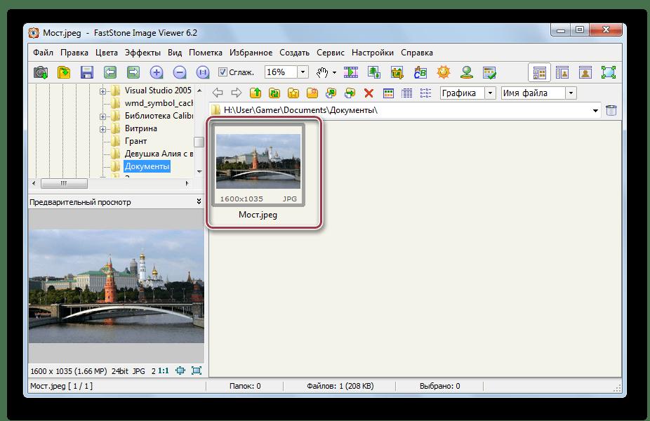 выбор файла в faststone