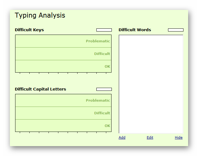 Аналитика TypingMaster