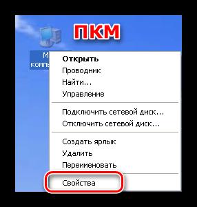 Доступ к свойствам системы с рабочего стола в Windows XP