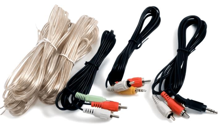 Кабели для подключения шестиканальной акустической системы к компьютеру в операционной системе Windows XP