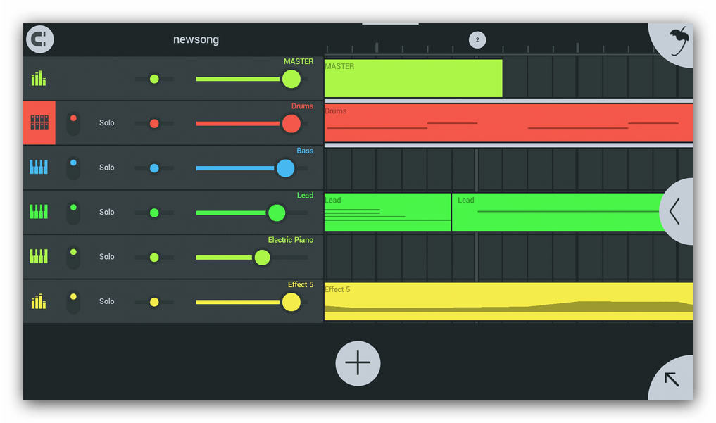 Настройки треков FL Studio Mobile