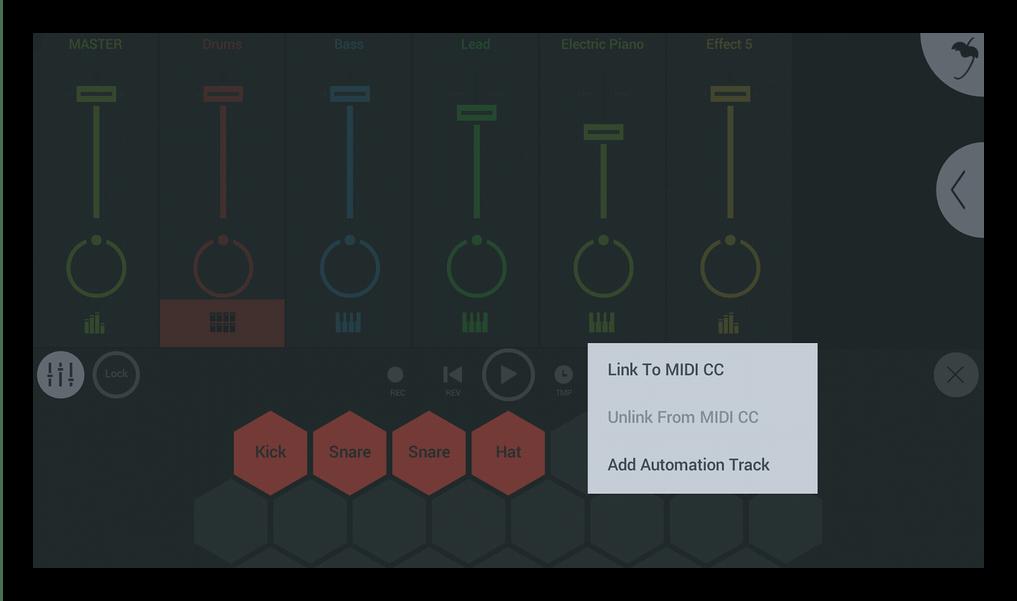 Подключить контроллер FL Studio Mobile