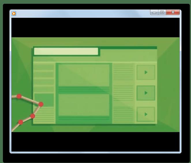 Проигрывание видео FLV в программе Windows Media