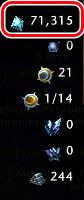 Пример показателя валюты в игре