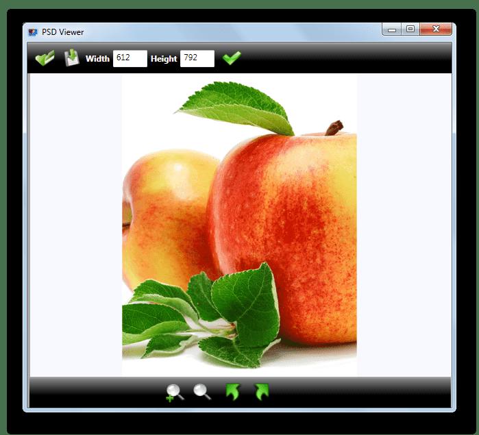 Содержимое файла в формате AI открыто в программе PSD Viewer