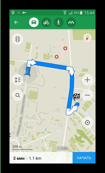 Составить маршрут Maps.Me