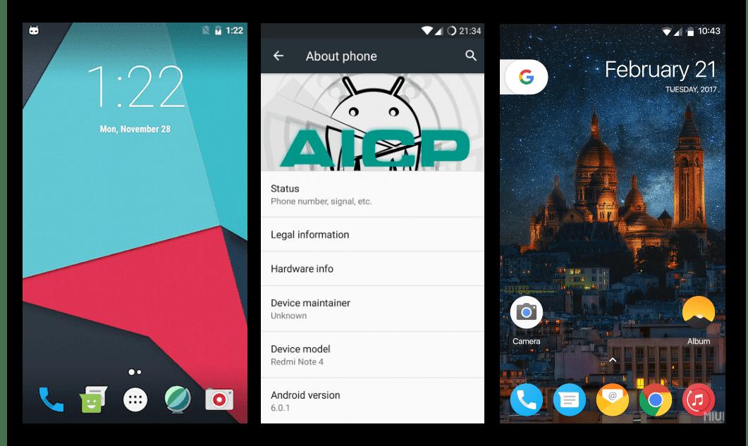 Xiaomi Redmi Note 4 разные кастомные прошивки