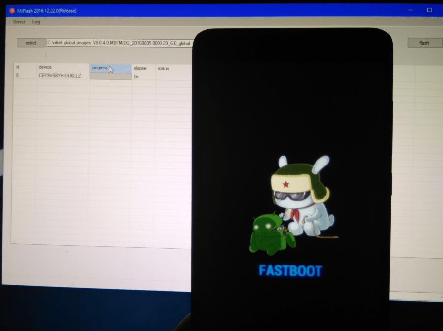 Xiaomi redmi note 4 прошивка через MiFlash в режиме Fastboot