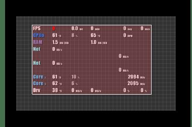 Заполнение цветом FPS Monitor