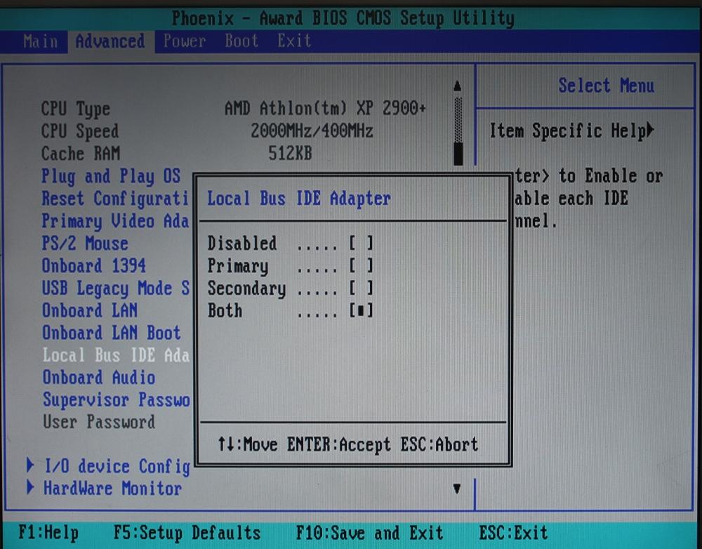 Настройка дисков в BIOS ASUS