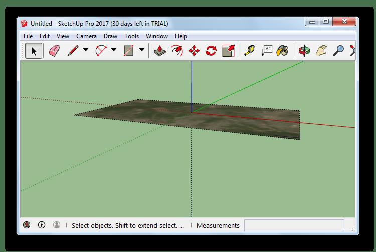 открытый файл kmz в SketchUp