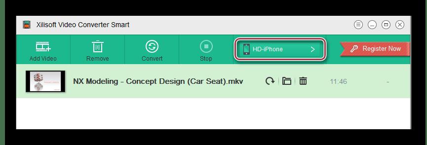 открытый ролик в Xilisoft Video Converter