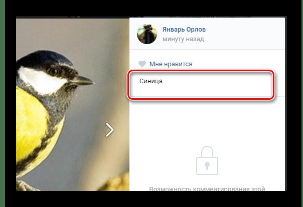 Добавление описания для изображений в блоке создания записи на главной странице сообщества на сайте ВКонтакте