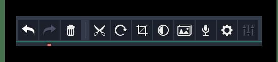 Дополнительная панель инструментов Movavi Video Editor