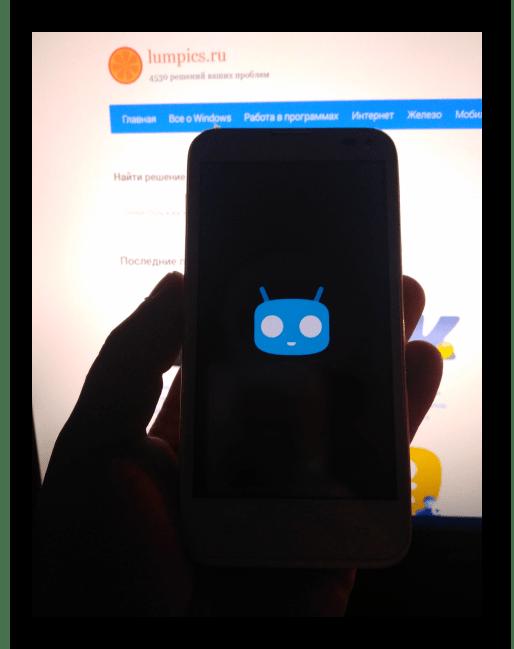 Fly IQ4415 Era Style 3 запуск CyanogenMod 13 после прошивки через TWRP
