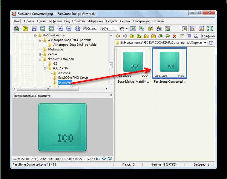 Готовый результат преобразования в FastStone Image Viewer