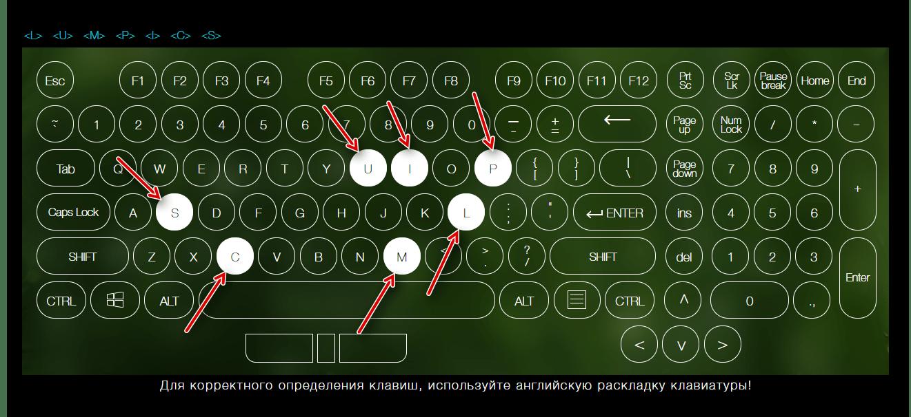 Индикация нажатых клавиш на клавиатуре с помощью сервиса Key-Test