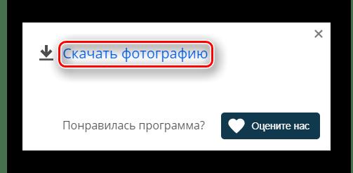 Кнопка скачивания фотографии в браузерном режиме с сайта Online Video Recorder