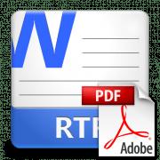 Конвертирование RTF в PDF