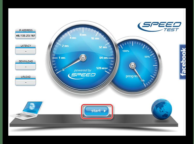 Начать тест скорости интернета на сайте voiptest.org